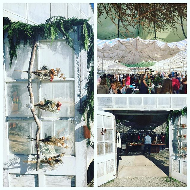 Open for business at HOMESPUN HOLIDAY! We will be here until 5pm along with so many other talented makers! #homespun #handmade #santabarbara