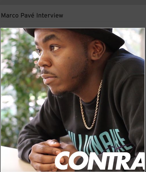 Rap as a Community Tool: Marco Pavé speaks