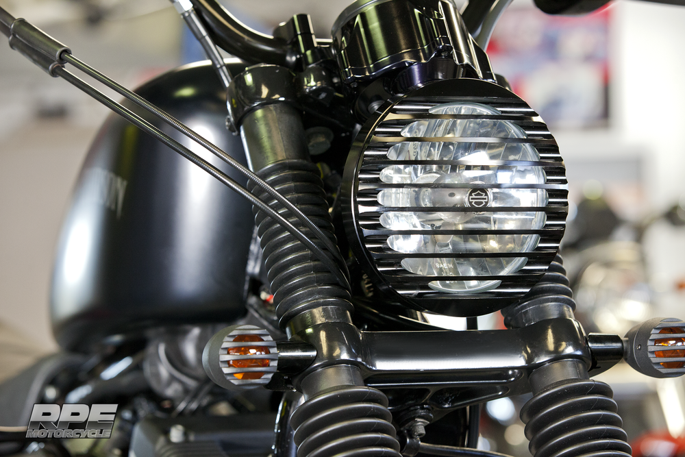 Black Custom RPE Scrambler Headlight