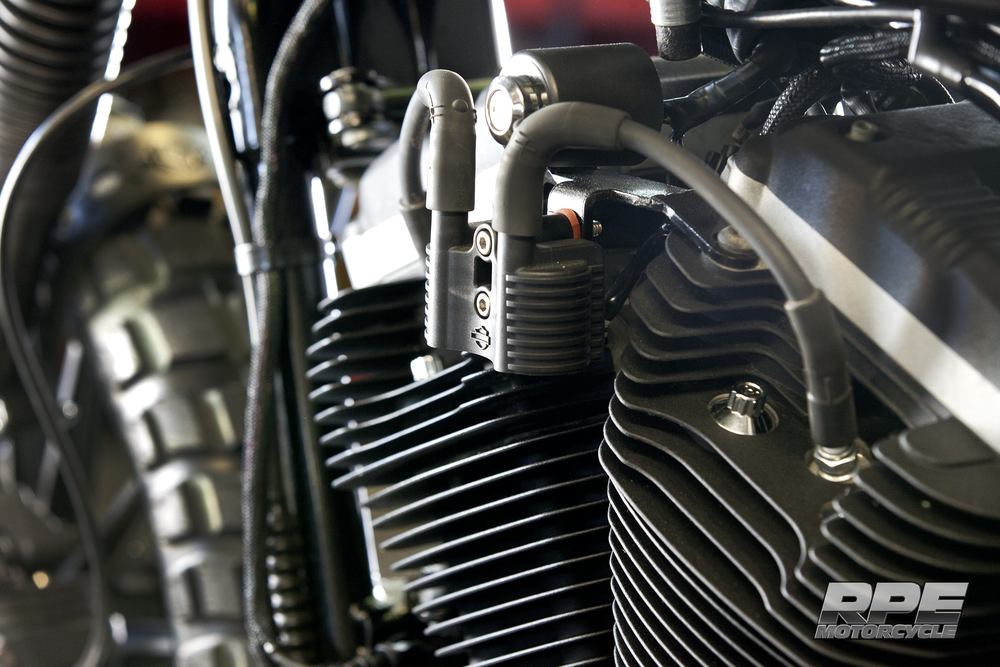 Engine Close up of Black RPE Custom Scrambler