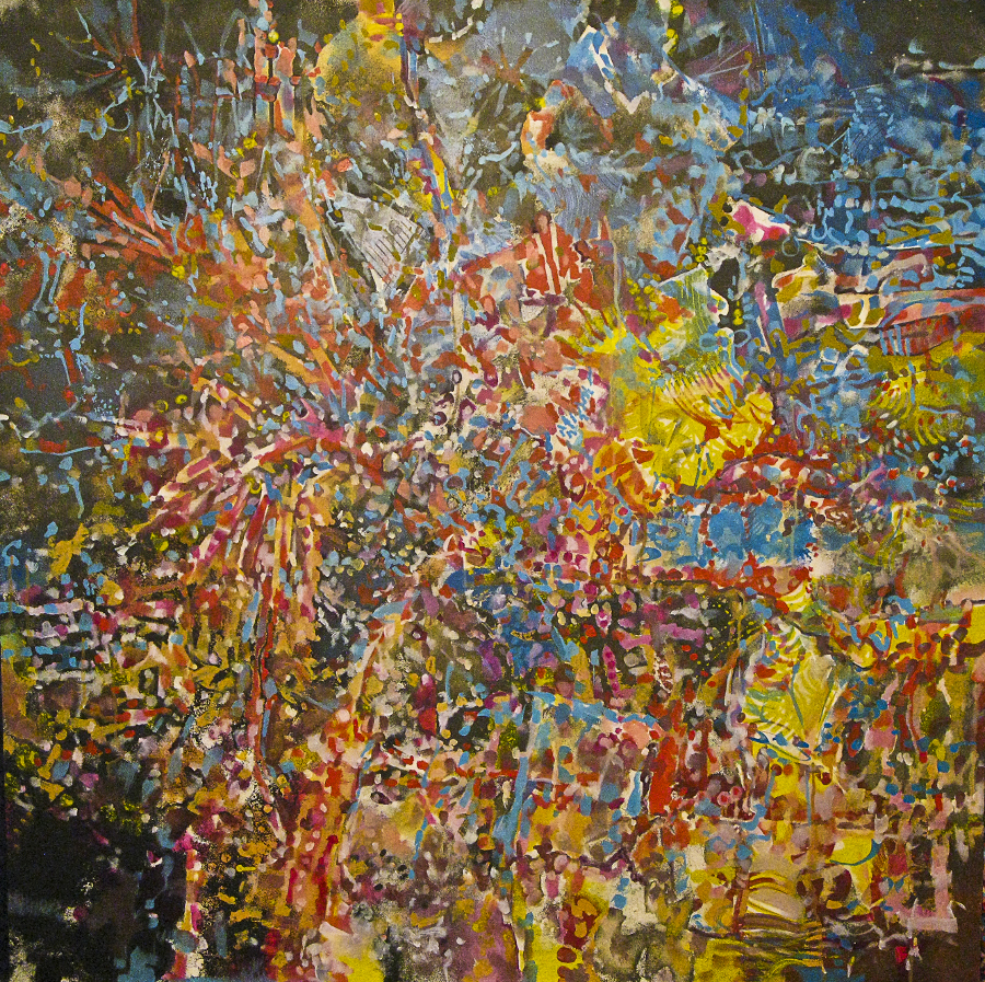 Untitled #44   W  52.00 in, H  52.00 in   Acrylic on Board     Price  $9800.00