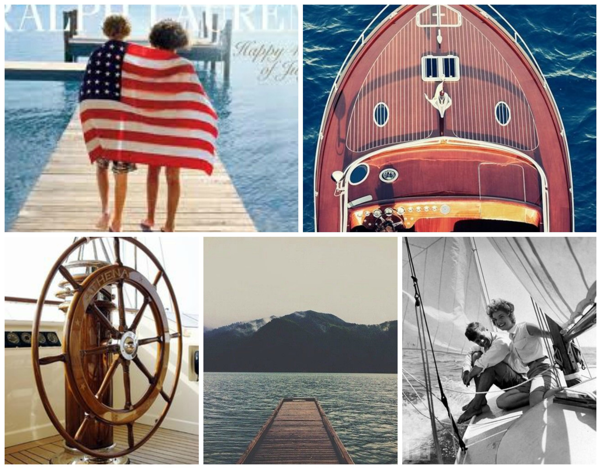 nautical family collage