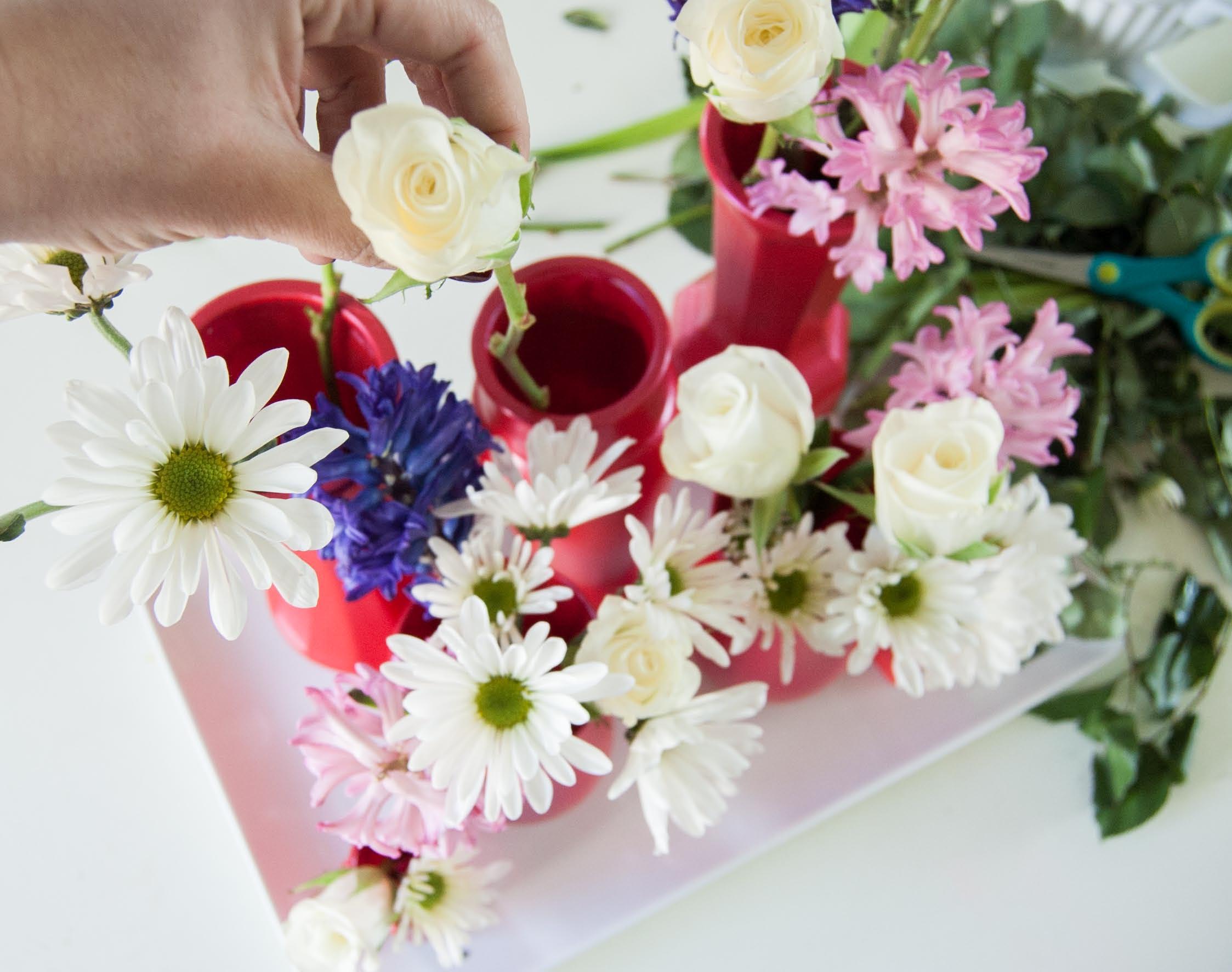 vday flower arrrange