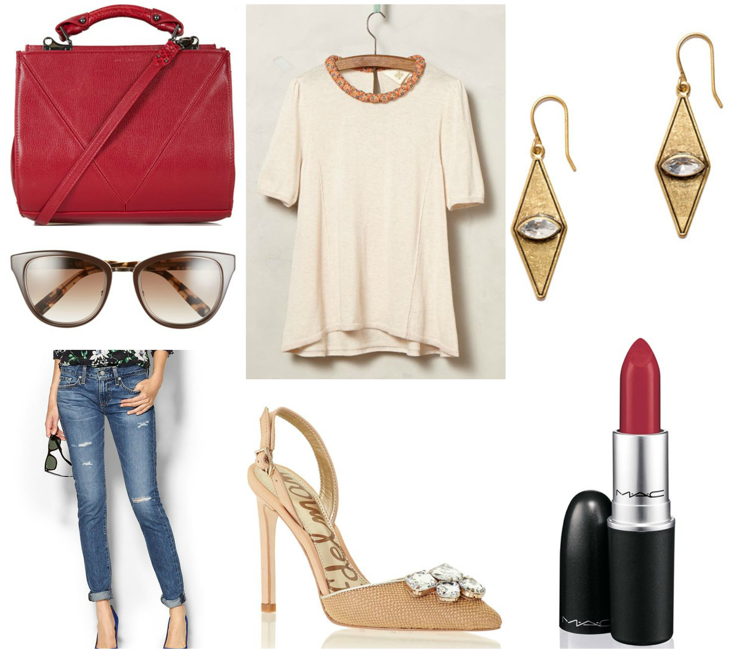 Red and cream outfit inspiration