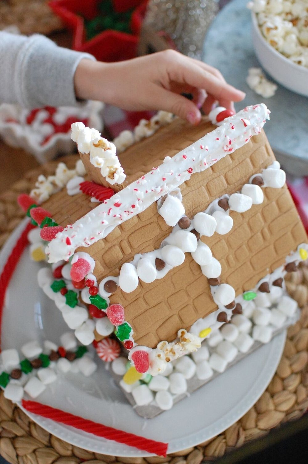 Gingerbread house making