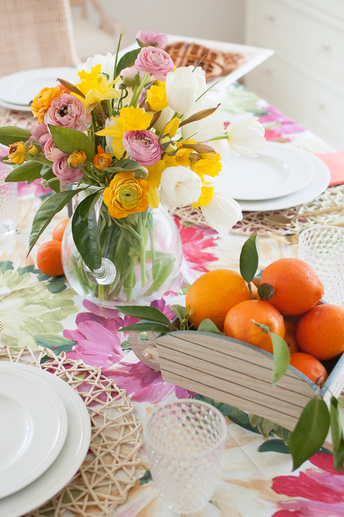 Cheery spring table scape