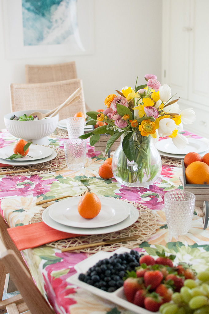 Citrus inspired tables cape