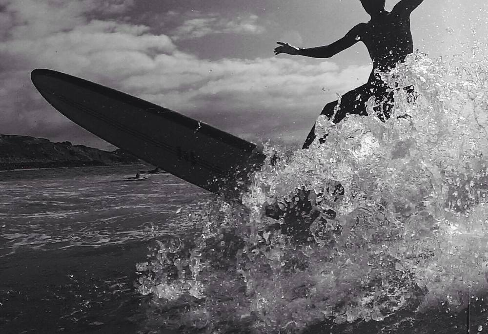 Right in the action, Martin Malnoë catching a wave. Photographer: Brice Hernandez