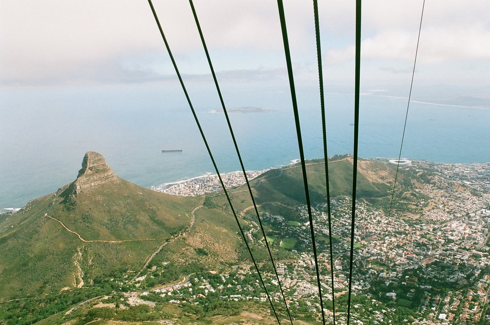 Lion's Head and Cape Town from the cable car.