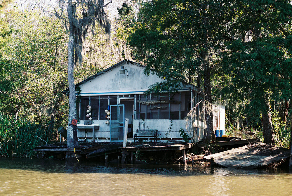 Someone's home on the Bayou in Louisiana. I bet they make a mean fried catfish.