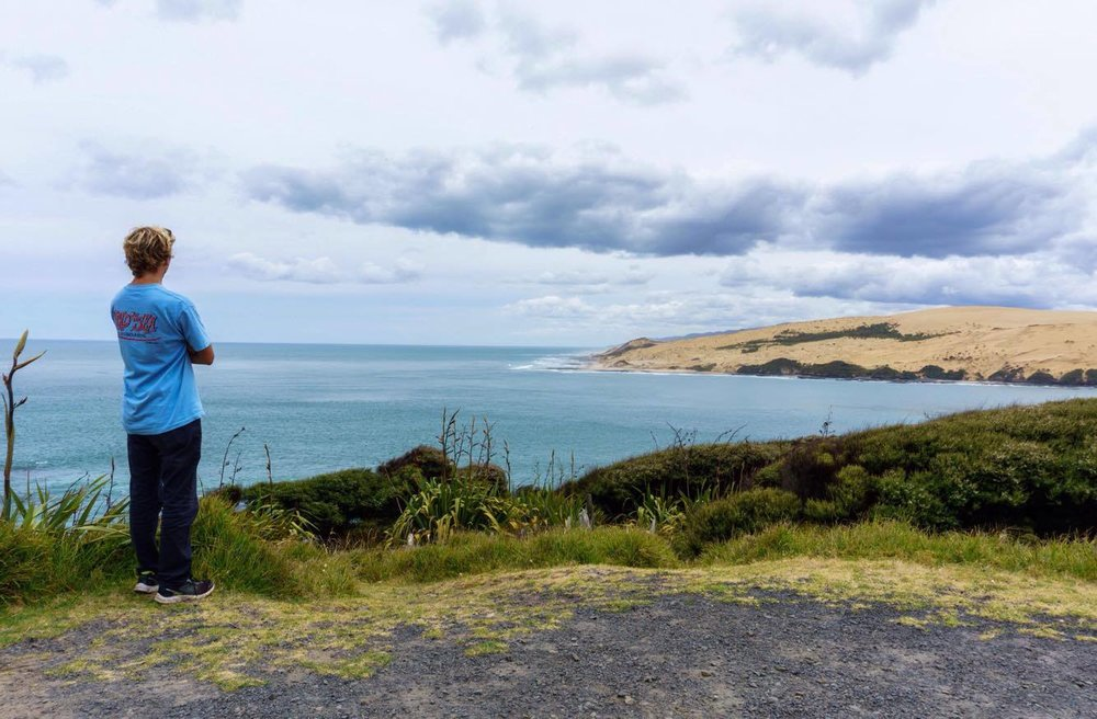 Days spent in Auckland, New Zealand, were mostly consisting of watching the sea. Photo Kalen Sutherland