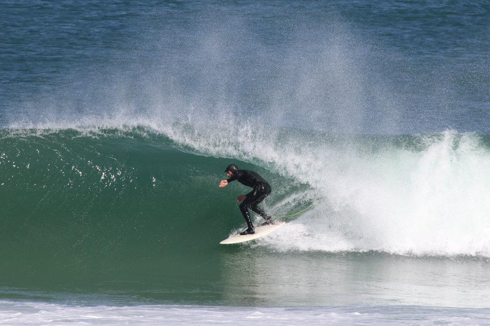 The West Coast bringing family together, Jeremy Shelton with barrel vision. Credit:  Steve Benjamin .