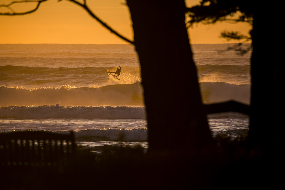 When you combine the wilderness of Vancouver Island with a killer sunset and Pete Devries, you can't get a bad shot.