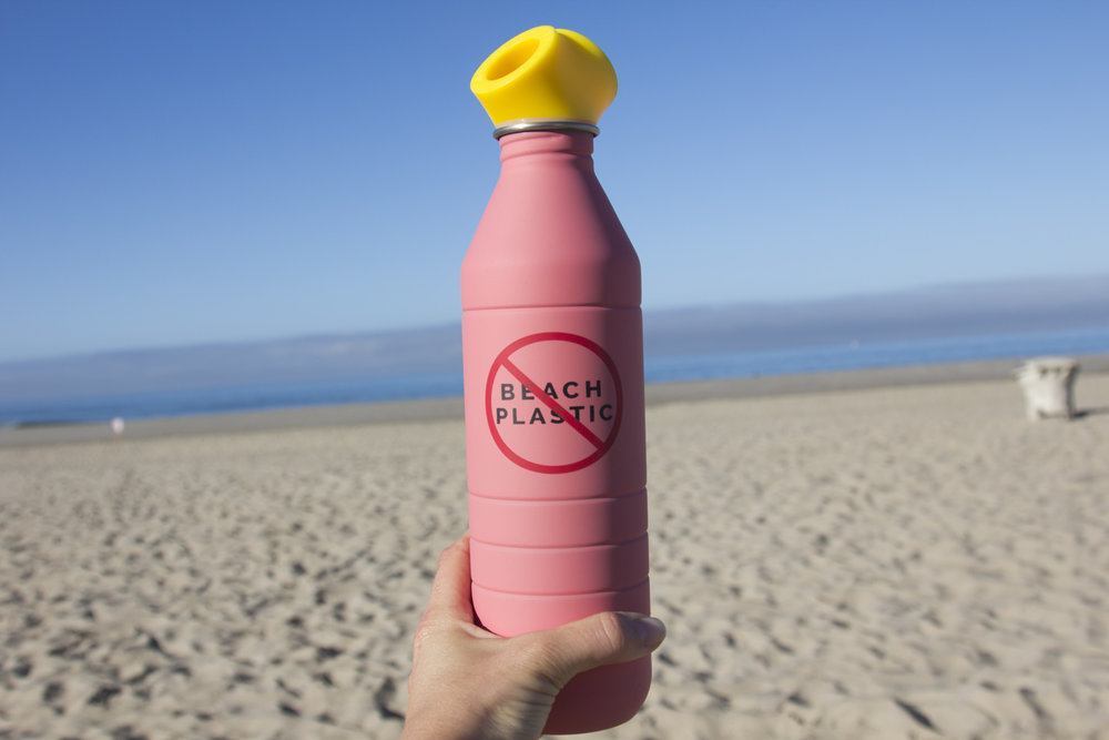 How could you not want a reusable bottle when it looks that good? No Beach Plastic - Photo by Chelsea Jeheber for Nouvelle Vague.