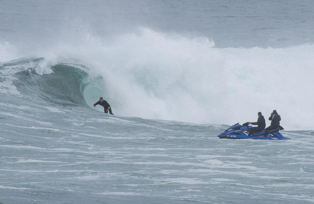 Hugo Lefrappux surfing an epic wave in Western Australia. Photographer: Maxime Samson