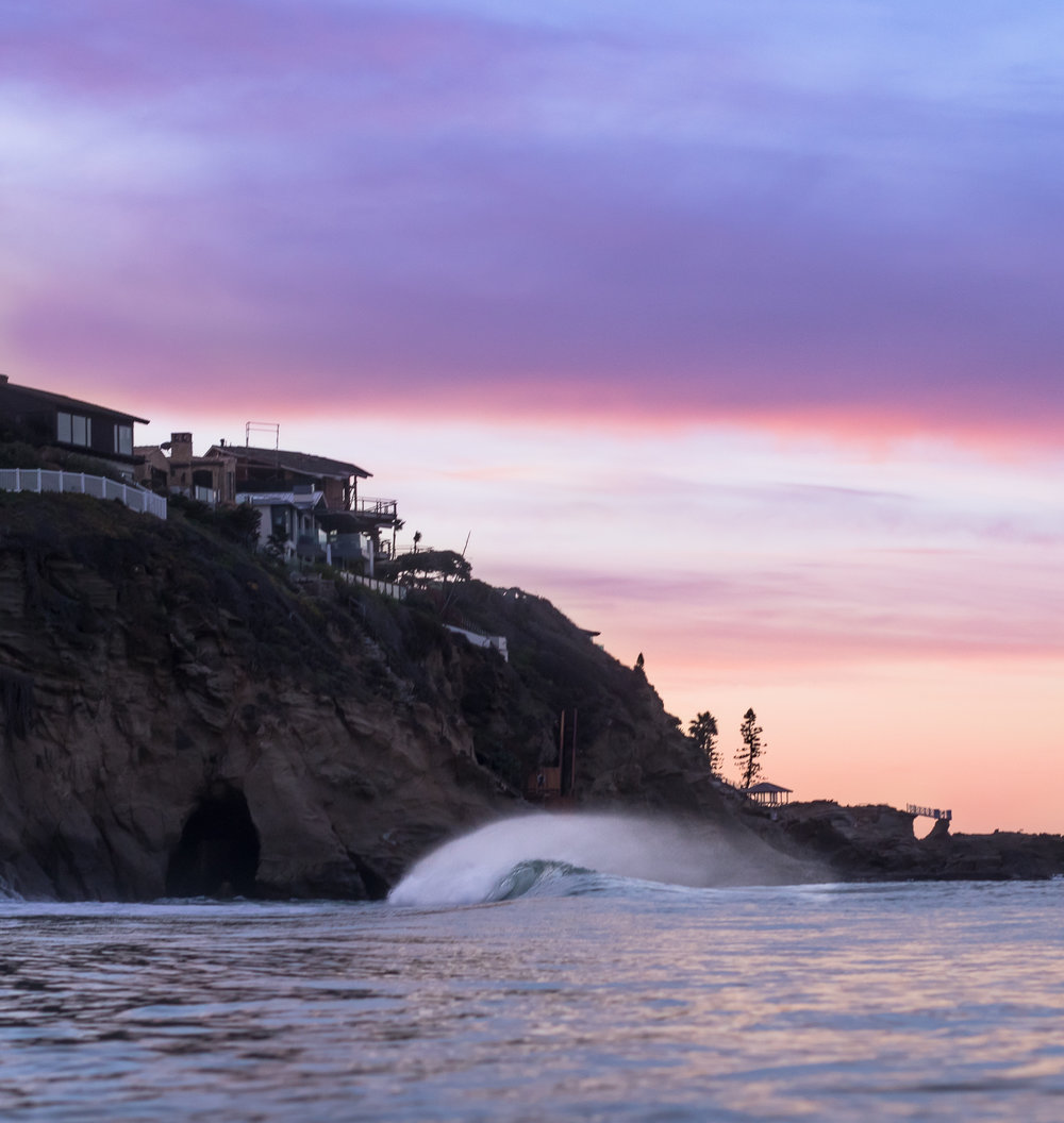 An abandoned wave in Laguna Beach, California. Who's ready for a surf? Photo by Jake Schrier.