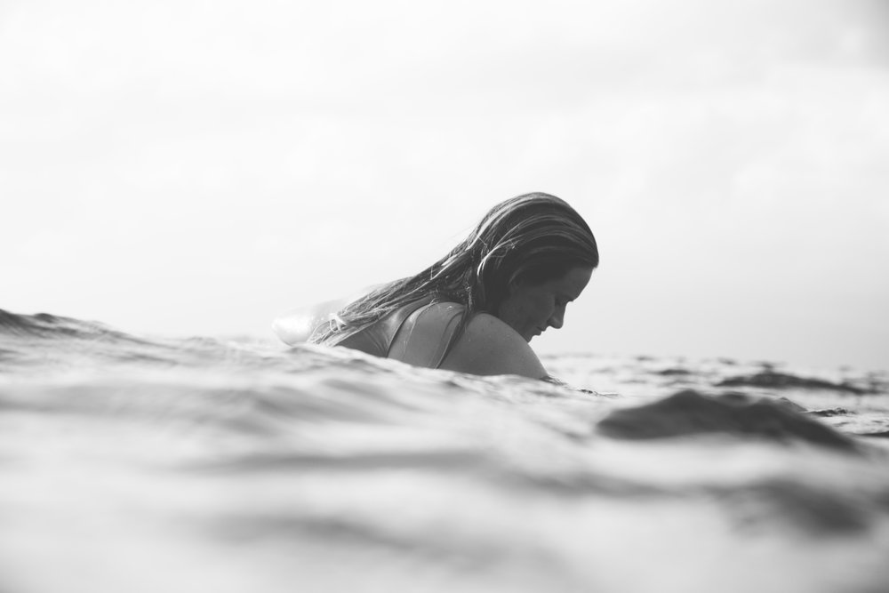 Bianca Buitendag enjoying the soothing effect of the sea during a trip to Maui in 2016. Shot by Tim Kothlow