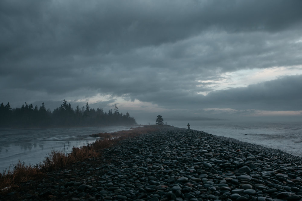 A sky full of promises and darkness in Cox Bay, Nova Scotia. Photographer: Catherine Bernier