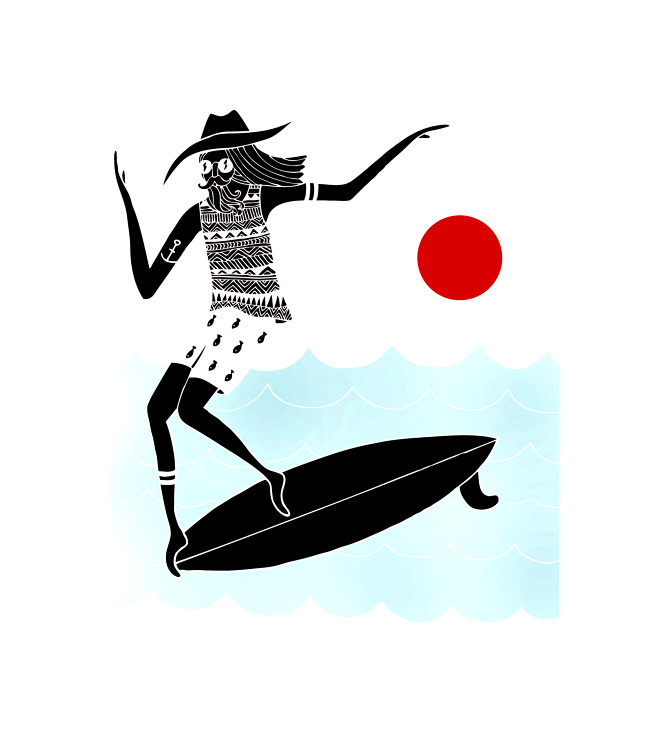 """The Believer"" - Surf Noserides Illustration by Lizzy Artwork"
