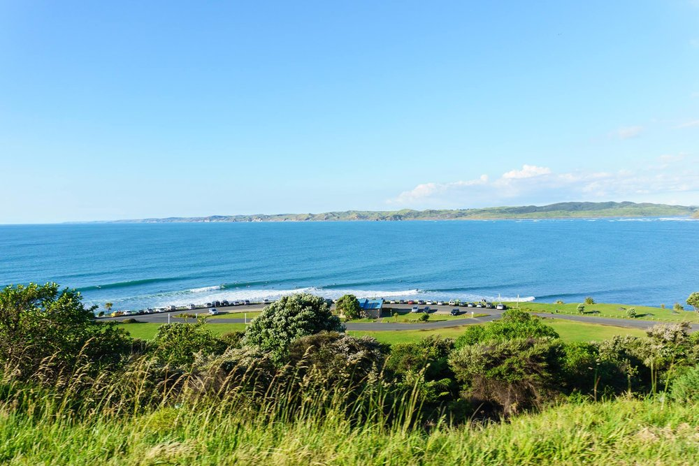 The view we got from Raglan's parking lot, New Zealand. Photo by Kalen Sutherland