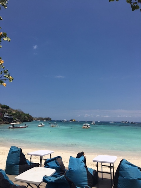 The bluest of blues in Nusa Lembongan, Indonesia