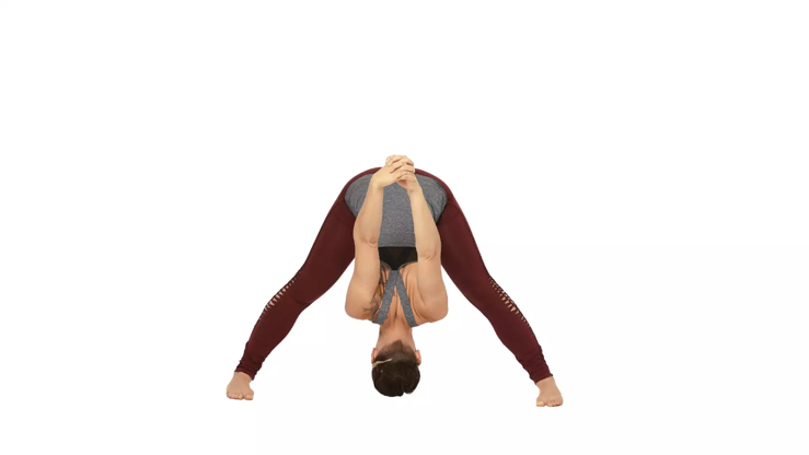 Prasarita Padottanasana (wide leg forward fold) with clasped hands.png