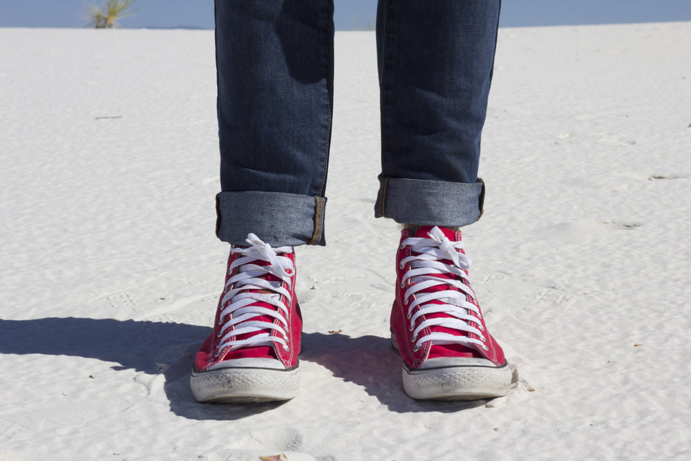 Michael enjoying the White Sands of New Mexico.