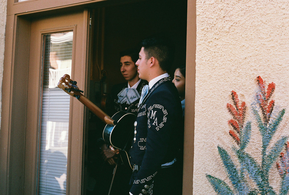 Young Mariachi players patiently await their turn for the stage in Bisbee, Arizona. We were lucky to stumble upon a Mariachi festival during our visit, the Universe provides.