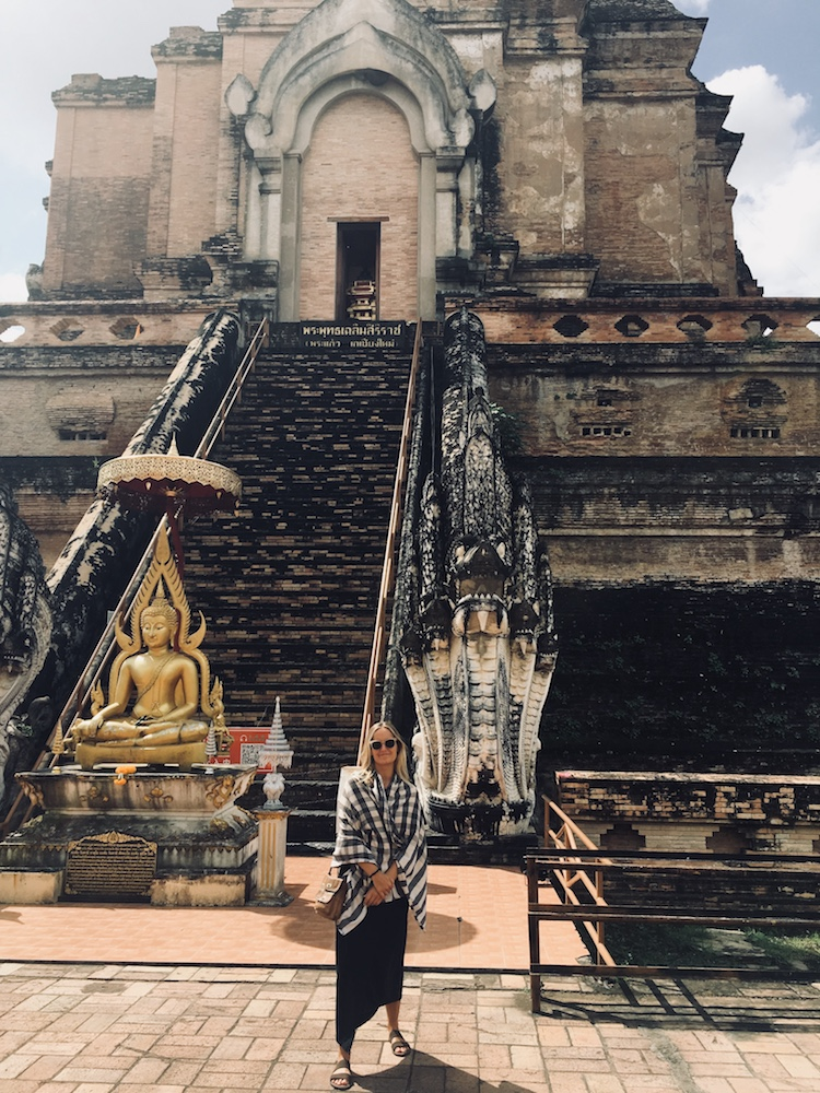 Me chilling hard at the Temple De Wat Chedi Luang, Chiang Mai