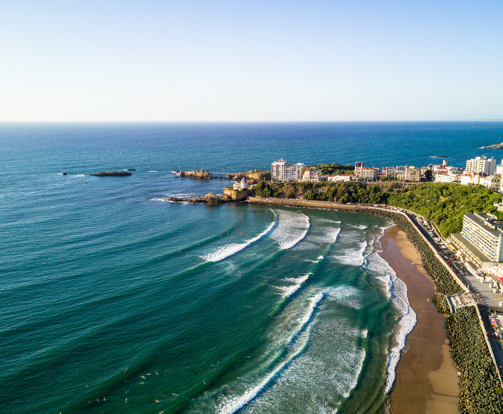 Above Biarritz, France.
