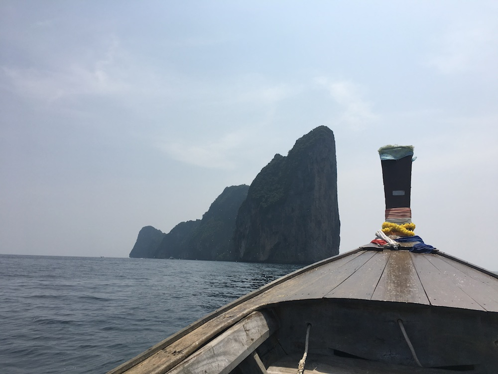 Touring the nearby islands of Koh Phi Phi