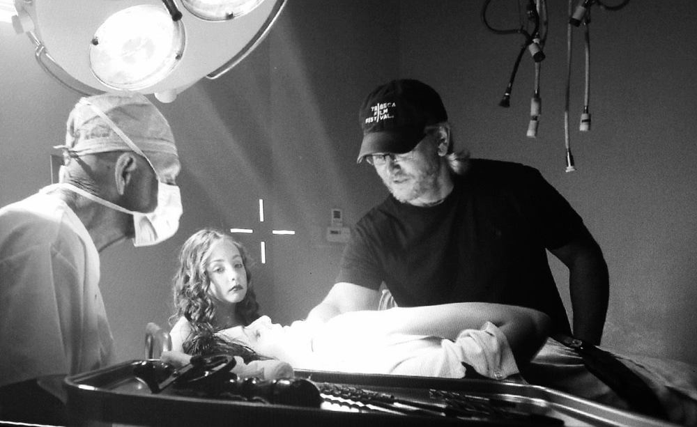 Director Jesse Burks on the set of CURED