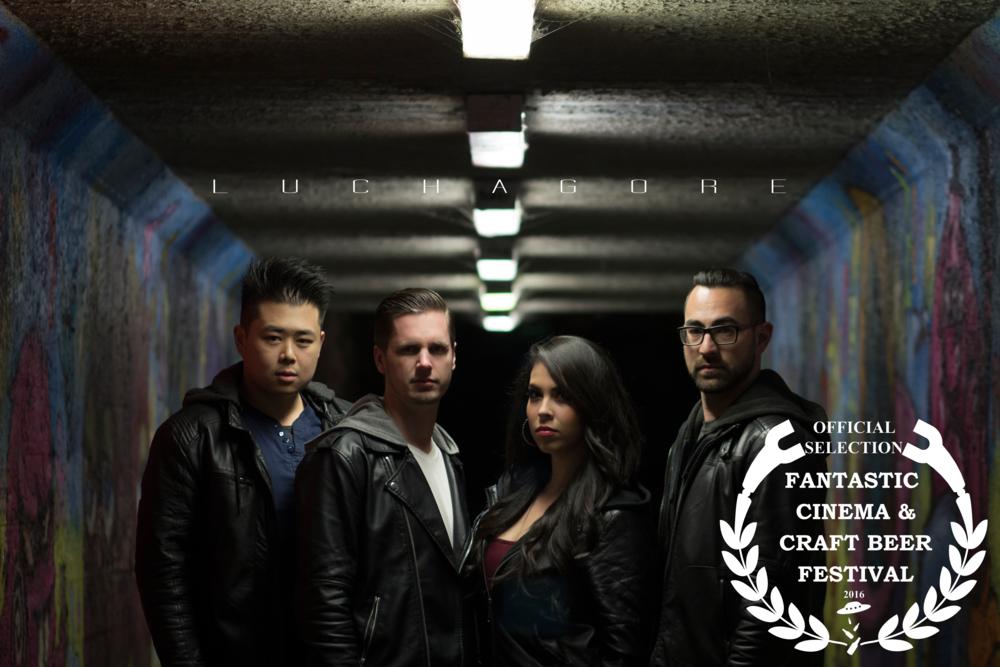 Luchagore Productions Gordon Cheng, Luke Bramley, Gigi Saul Guerrero, and Raynor Shima