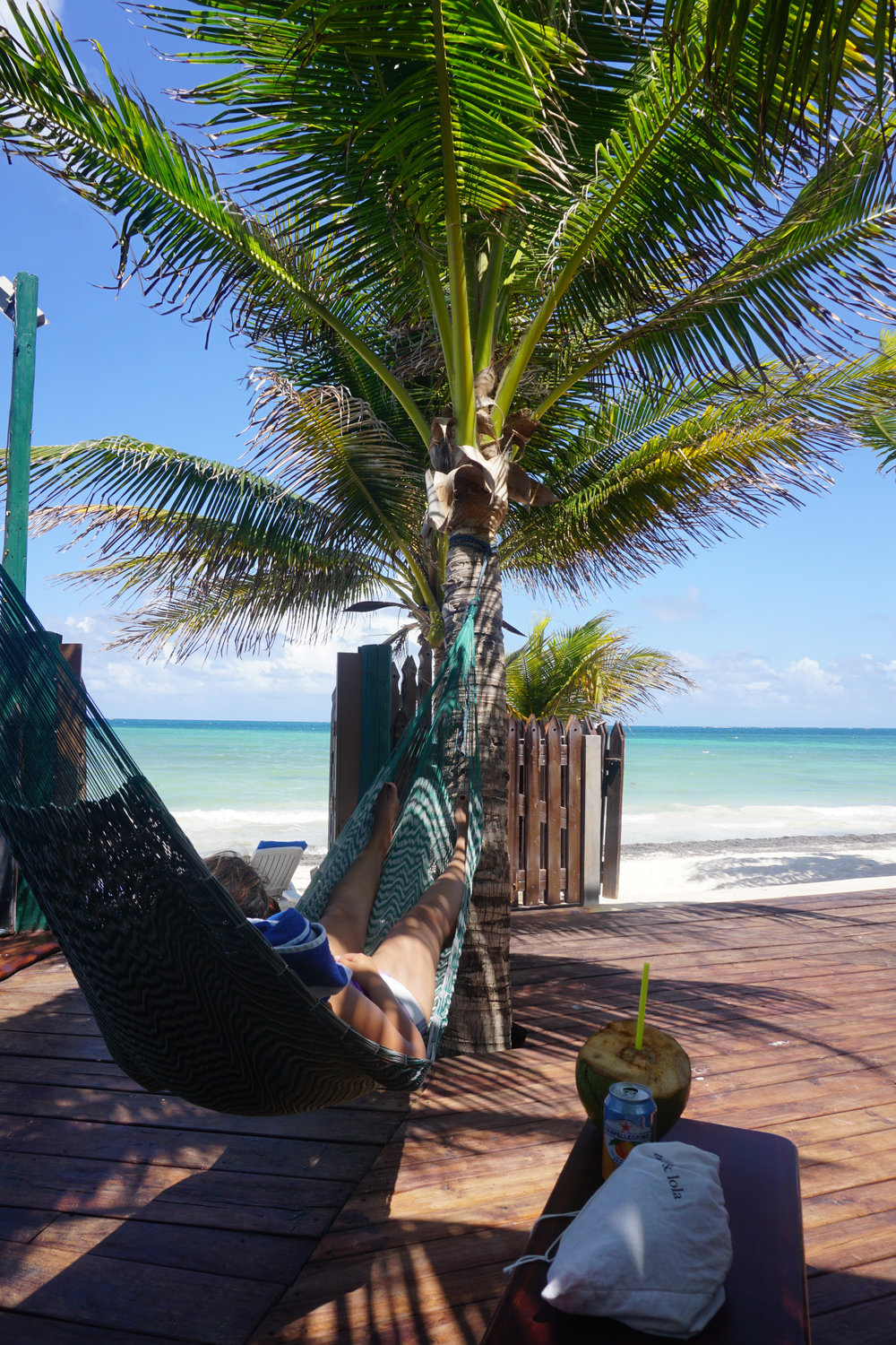 One of our DOWU guests enjoying a beautiful day in Puerto Morelos.