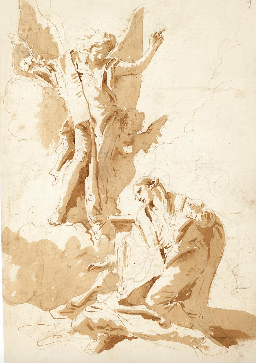 - Giovanni Battista Tiepolo (Venice 1696-1770 Madrid)The Annunciation