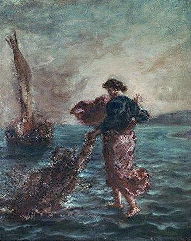 - Eugène Delacroix (Saint-Maurice 1798-1863 Paris)Christ Walking on the Water
