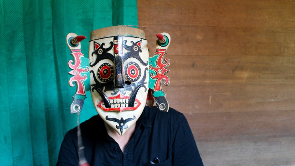 Jan Schulte aka Wolf Muller in disguise in Kayan Mendalam, West Kalimantan