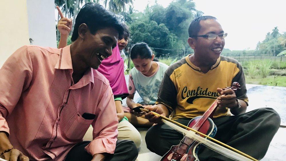 Epi and John after our gandang sarunai and rabab recording sesh.