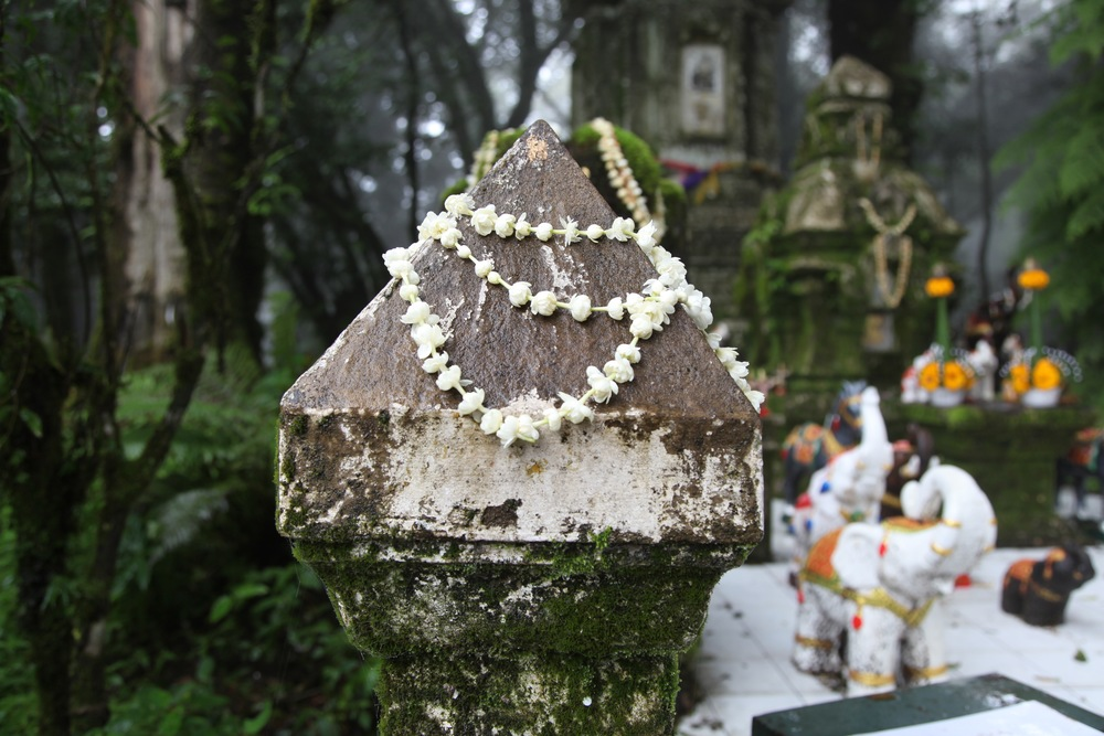 Everything that is connected to the shrine is sacred. So offerings are made to every part of it .
