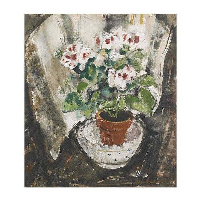 Remembering: Anne Redpath. 'Pelargonium', 1957. #AnneRedpath