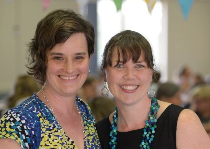 Publisher, Cecily Paterson, and illustrator, Lorien Atwood. Photo by Rachel Li