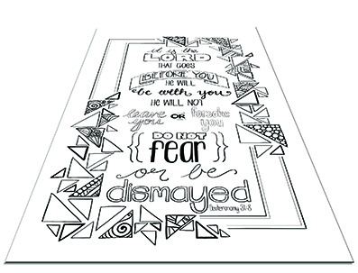 Beautiful Bible colouring printable download
