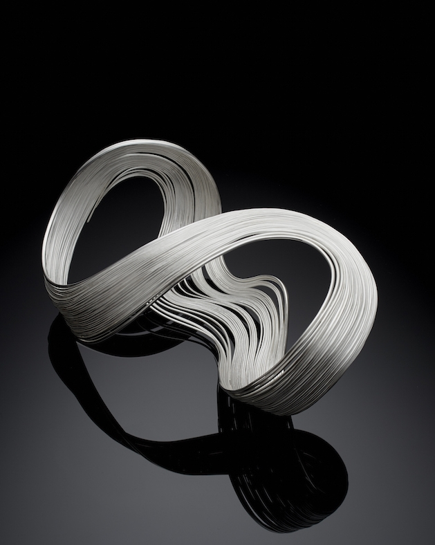 Nan Nan Liu, 'Waves', Sculpture, Sterling Silver and Fine Silver, Hammered and Fabricated, 2016_3 copy.jpg
