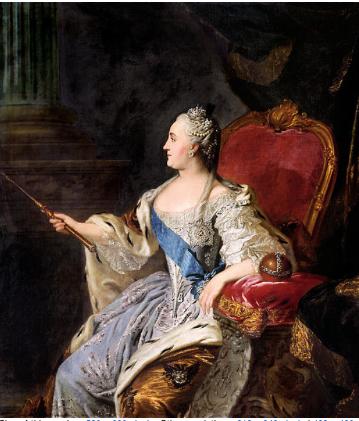 Catherine II by Fyodor Rokotov