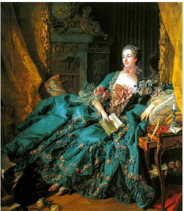 Marquise de Pompadour byFrançois Boucher 1756