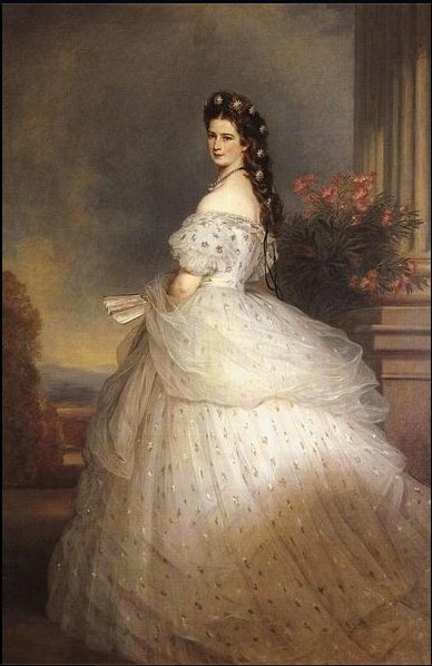 Charles Frederick Worth, dress for Empress Elisabeth of Austria,  by Franz Xaver Winterhalter circa 1865