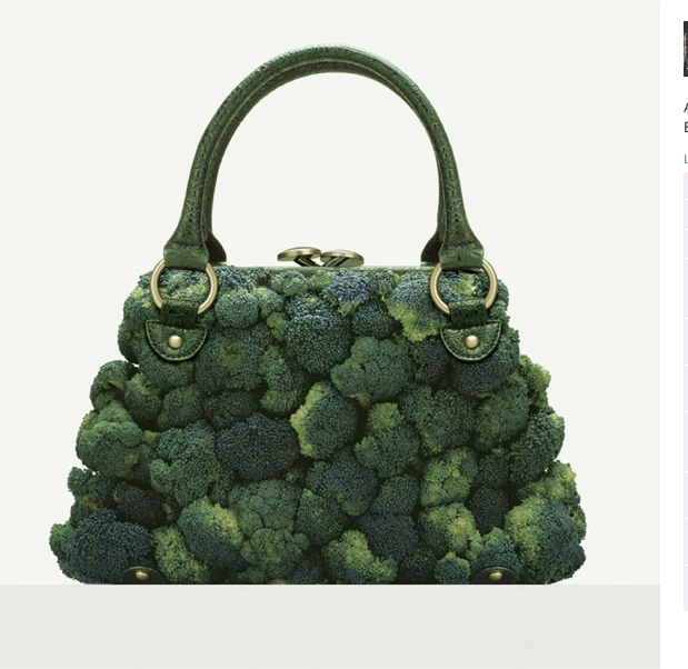 Broccoli Purse by Fulvio Bonavia