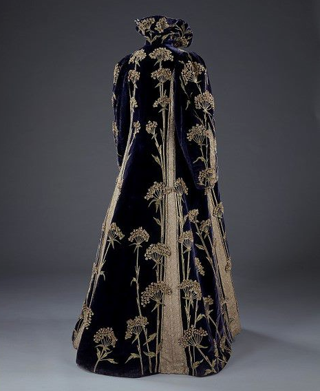 Embroidered velvet coat, Marshall & Snelgrove Ltd (retailers), 1895-1900, via Victoria and Albert Museum