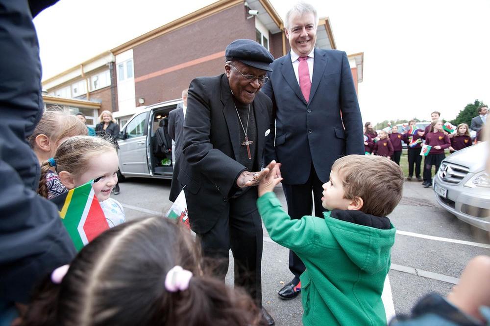 Archbishop Desmond Tutu visit to Cardiff