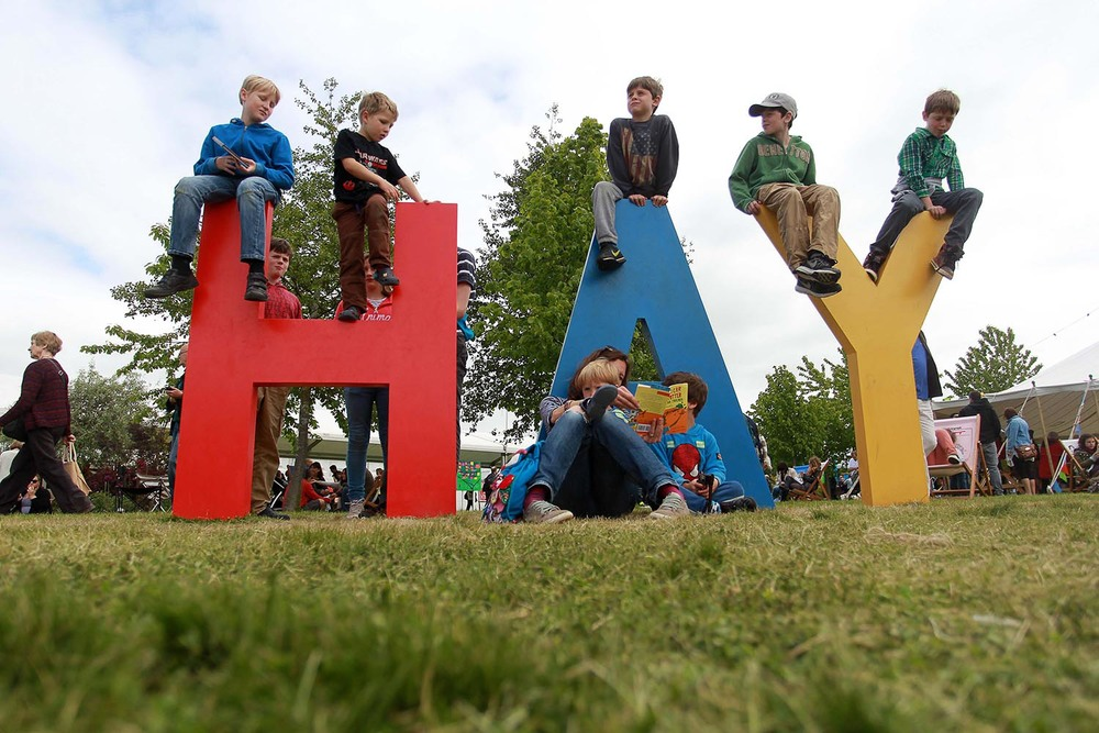 Bank Holiday weather at the Hay Festival